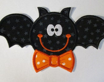 Ready To Ship SEWFAST - Halloween Vampire Bat - Iron On Embroidered Applique - Ships in 1 - 3 Business Days