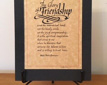 Original Calligraphy quote by Ralph Waldo Emerson