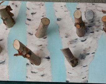 Birch on Birch on Pine Wall Art