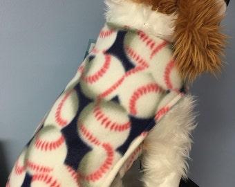 Baseballs or Soccerballs dog coat size Xsmall