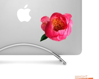 Pink Peony Flower - Printed Vinyl Decal - Perfect For laptops, tablets, cars, trucks, SUVs and more!