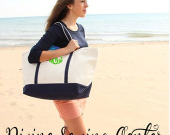 Personalized Boat Tote. Monogrammed Bridesmaid Gifts. Personalized Wedding Gifts. Monogrammed Beach Bag. Beach Tote. Extra Large Boat Tote