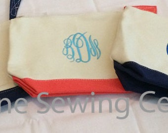 Personalized Makeup Bag. Monogrammed Cosmetic Bag- Bridesmaid Gifts