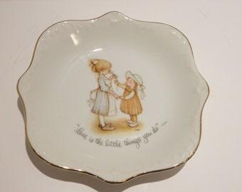 "Vintage Holly Hobbie Plate/Dish ""1973"""