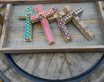Primitive Paper and Weathered Wood Crosses