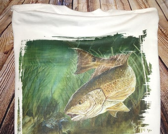 Red Drum Fish Shirt