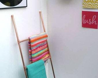 Copper Towel Ladder- Towel Rack