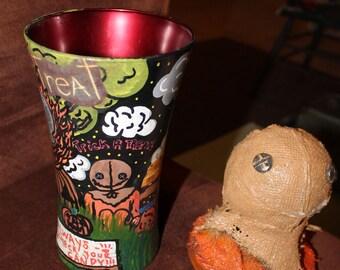 Trick r Treat inspired vase