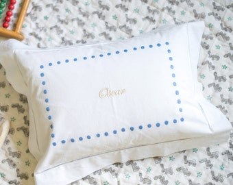 Personalized Dots Baby Pillowcase