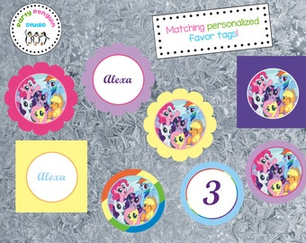 My Little Pony Custom Party Tags