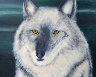 The Wolf - Animal Acrylic Painting