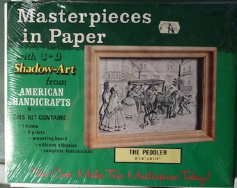 "Art Kit - Masterpieces in Paper with 3-D Shadow - ""The Pedler"""