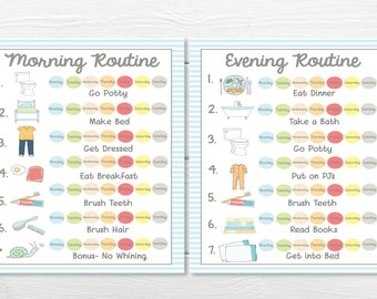 PRINTABLES- WEEKLY (7 Day)- Young Child/Toddler Boys Chore Chart