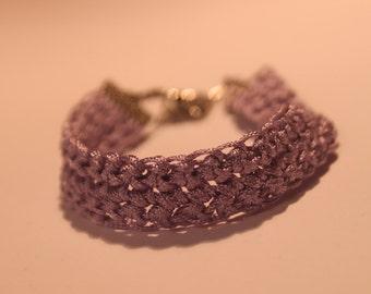 crochet bracelet lavender
