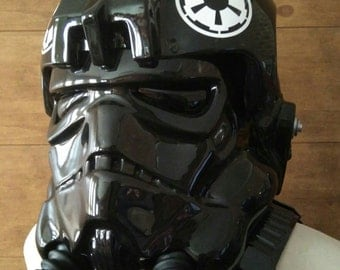 Tie Fighter Pilot helmet with armor and chestbox,mounted