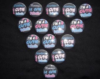 Cutie Patootie Buttons  Set of 15