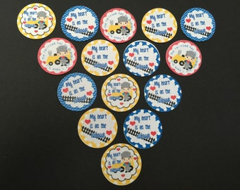 My Heart is on The Railroad Buttons Set of 15