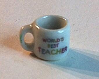 """Miniature """"World's Best Teacher"""" Coffee Cup"""