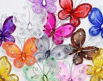 Organza Butterflies or Organza Flowers or Organza Stars