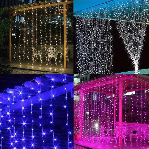 String Lights In Window : 300 led 9 ftx9 ft Window Curtain Lights String Fairy Light