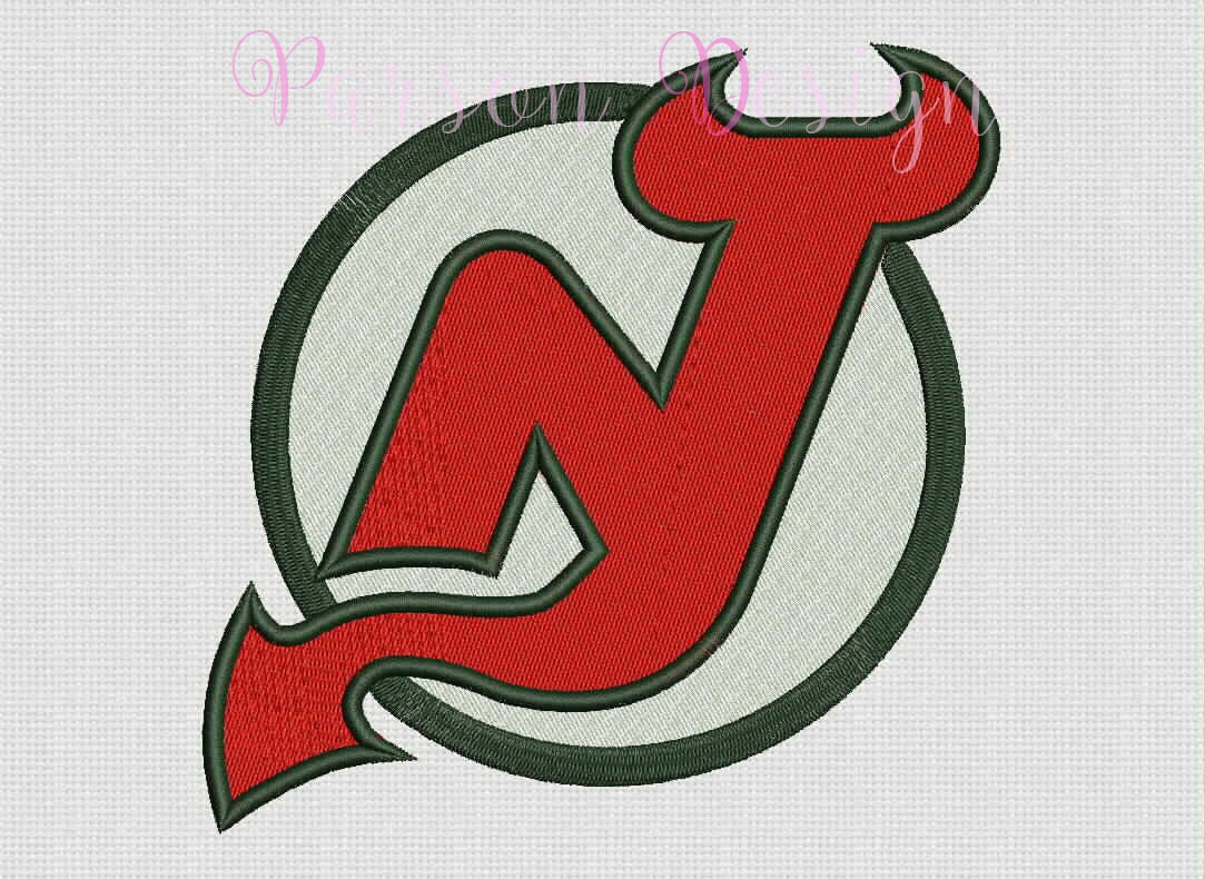 New jersey devils size embroidery designs hockey