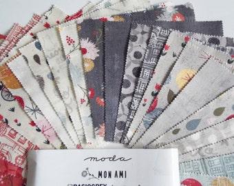 "Moda Mon Ami 5"" Charm Pack of 42 squares -100% cotton"