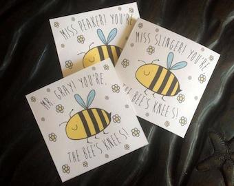 Personalised: Bee's Knees card