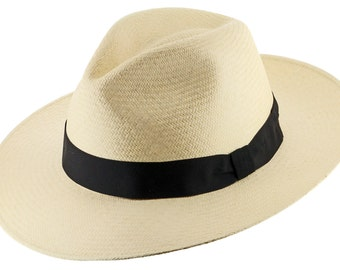 GATSBY FEDORA Panama Hat Natural STRAW Stylish