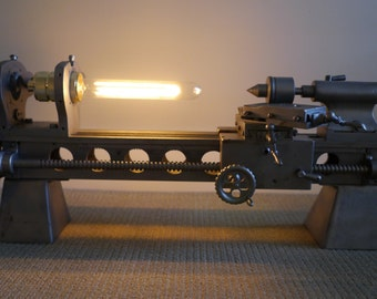 1930s Jewellers Lathe Industrial Lamp.