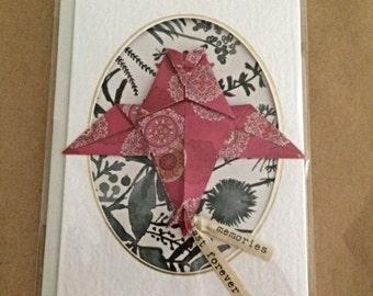 Handmade Origami Card - Owl