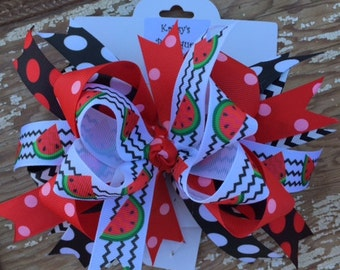 Watermelon Boutique Style Hairbow