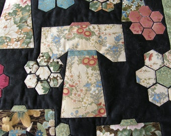 Asian Kimono Quilted Wall Hanging