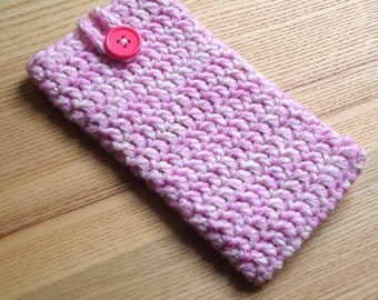 iPhone 6 Cosy in Pink Cream Marl - Phone Case, Sock, Cozy - Fashion Accessories - Gadget case - Cell Phone Case for Her Birthday, Sister