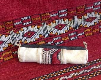 Moroccan leather pencil case