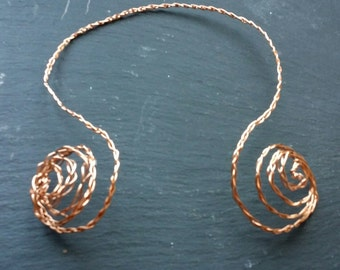 Copper torq... this is unique! Using the ancient celt design of a torq but now lightweight and stunning!