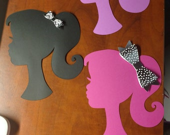Girl Silhouette centerpiece