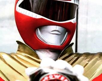Red Power Ranger helmet