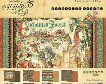 SALE! (17.99) Graphic 45  Enchanted Forest 12×12 Paper Pad