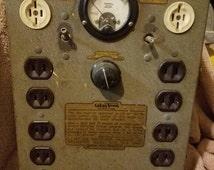 Color Tran vintage lighting panel  Steampunk dream!!