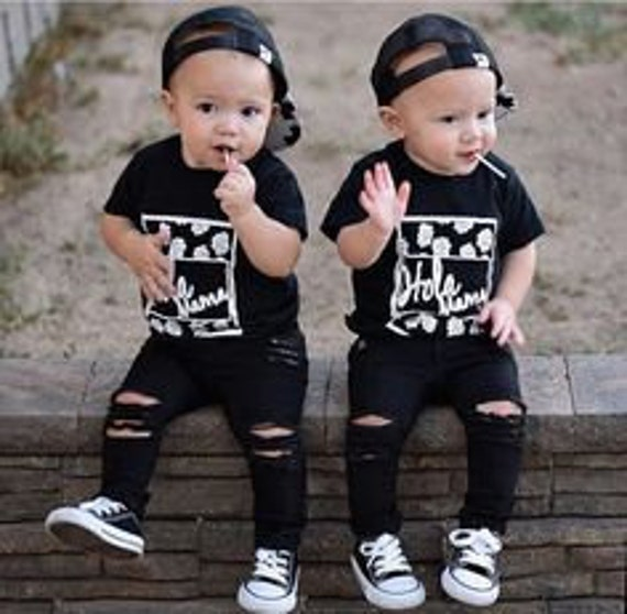 New Black Distressed/Destroyed/Ripped Jeans for Toddlers
