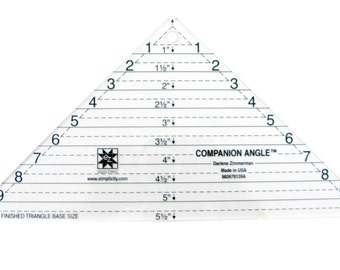 Companion Angle Triangle Acrylic Quilting Template