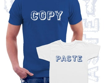 Copy Paste Matching T shirts Dad and kid, Father and Son matching set of 2 shirts, fathers day gift, Christmas gift