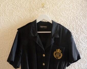 vintage playsuit with sailor motiv