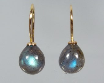 750 gold earrings earrings Labradorite Pampel unique forged master work