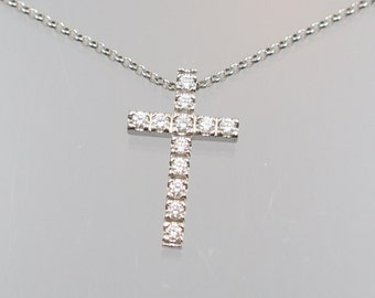 Gold cross pendant with 12 brilliant 0, 36ct unique master work Goldsmith crafted huge