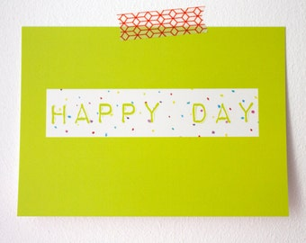 Happy Day - Postcard
