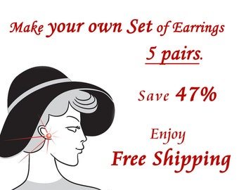 Free Shipping. Earrings Set of 5 pairs Teeny Tiny Stud. Save 47%. Gift for her. Everyday Jewelry. Simple Jewellery.