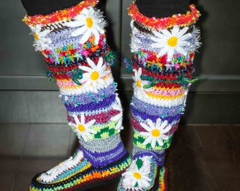 Stash Buster Knee High Slipper Boots