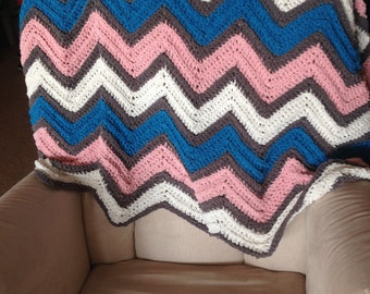 Chevron Baby Throw Blanket