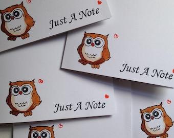 Owl Notecard Set